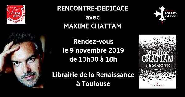 Rencontre-dédicace avec Maxime Chattam
