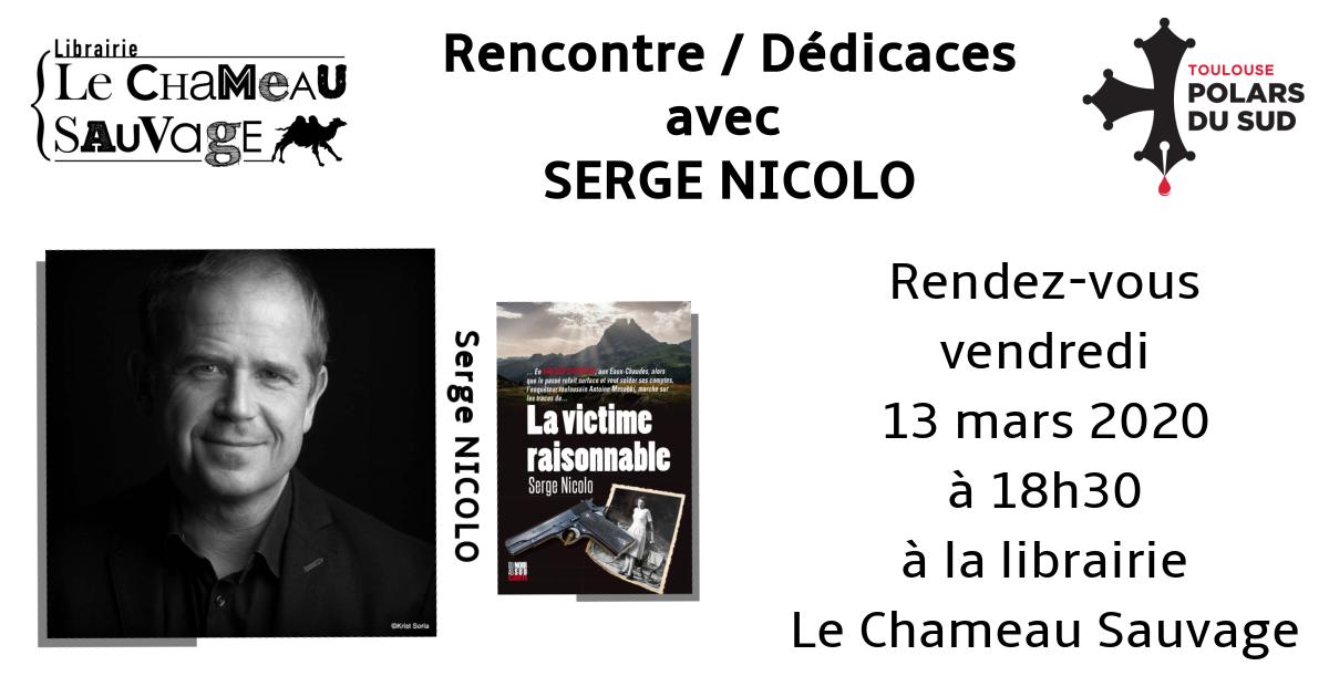 Rencontre avec Serge Nicolo le vendredi 13 mars à 18h30